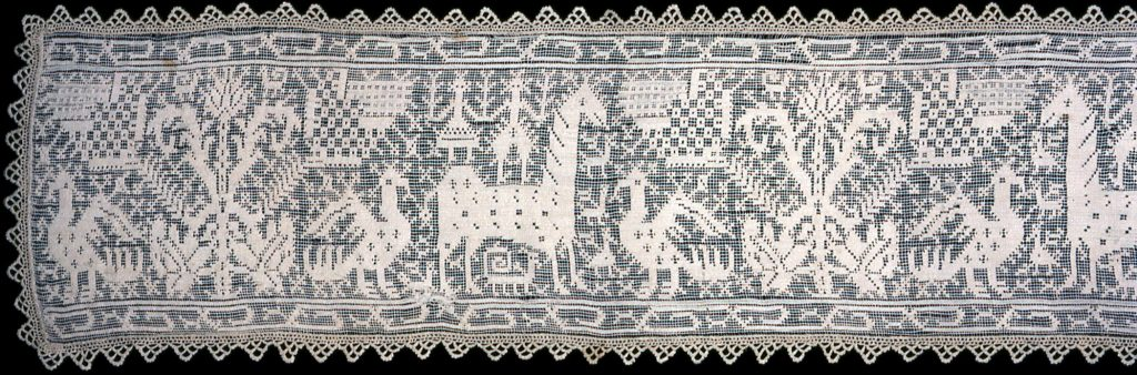 Valance (Needlework), 1650/1700, Italy or Spain (edging: 20th century)