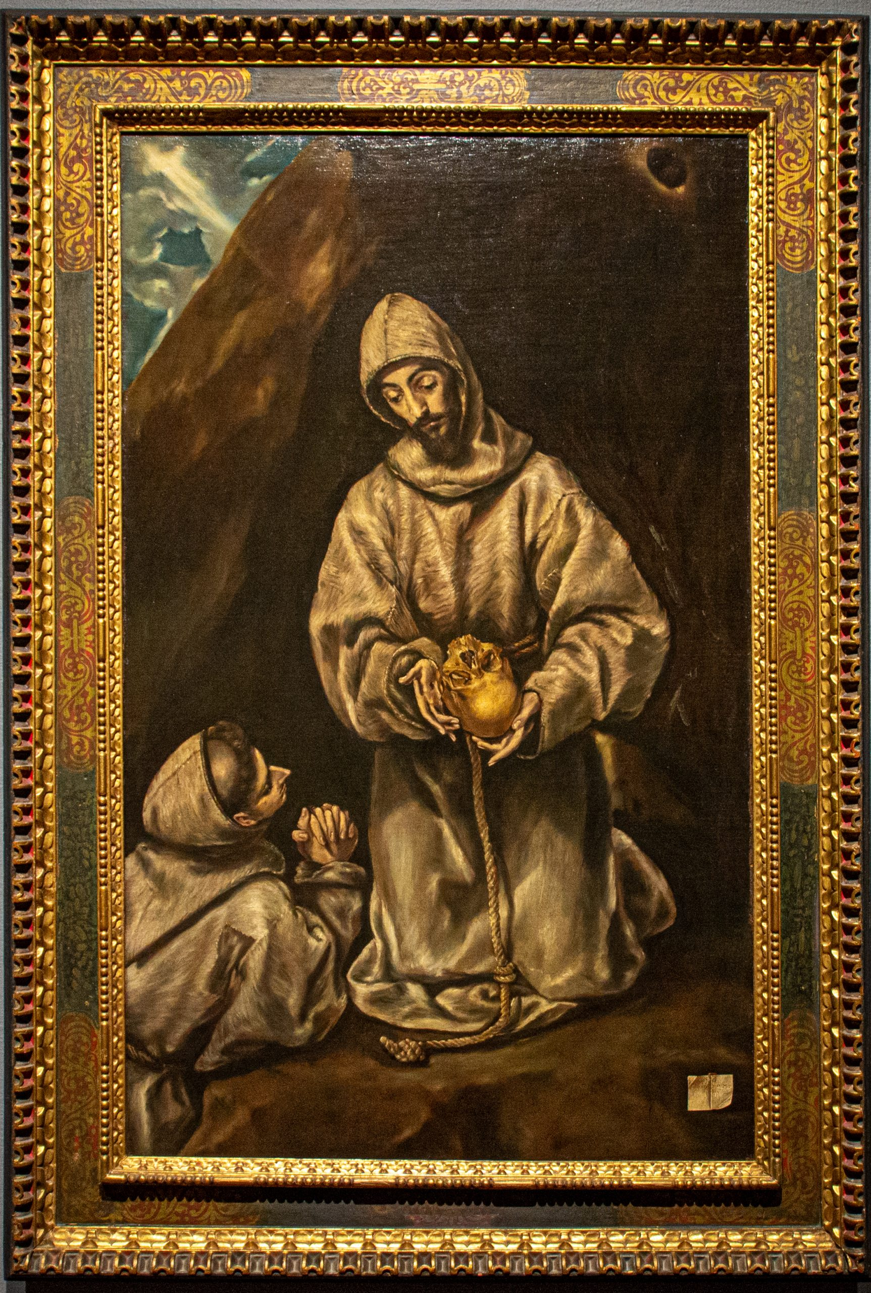"""""""Saint Francis and Brother Leo Meditating on Death"""" by El Greco"""