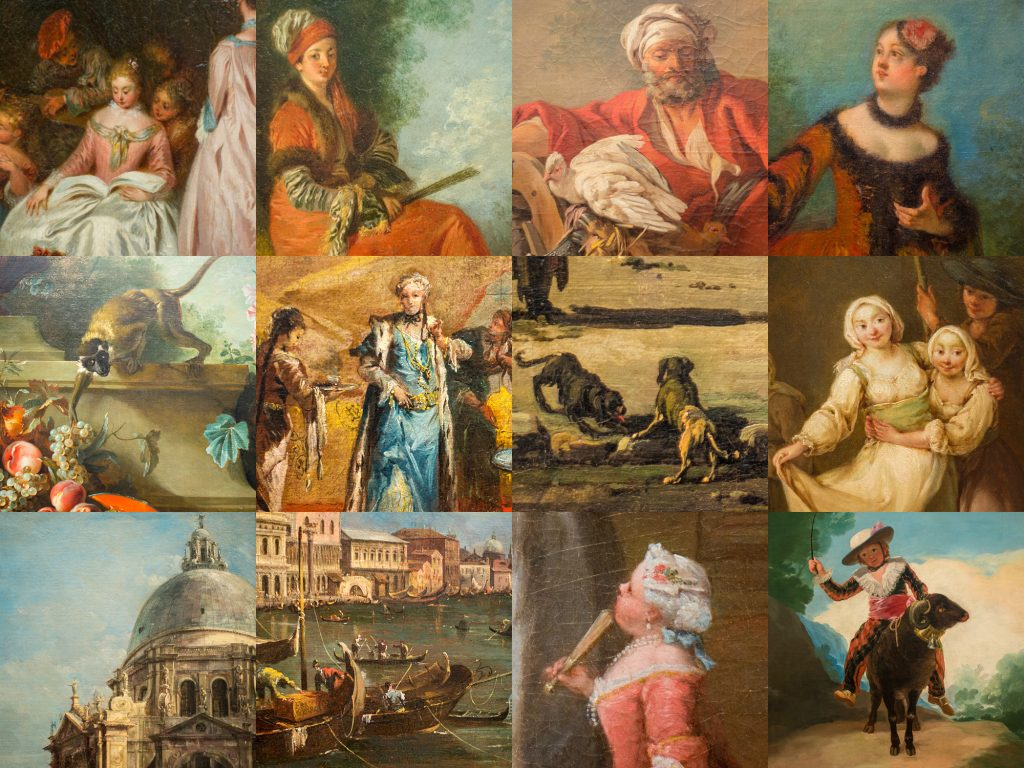 Collage of photos from Gallery 216 in Art Institute of Chicago