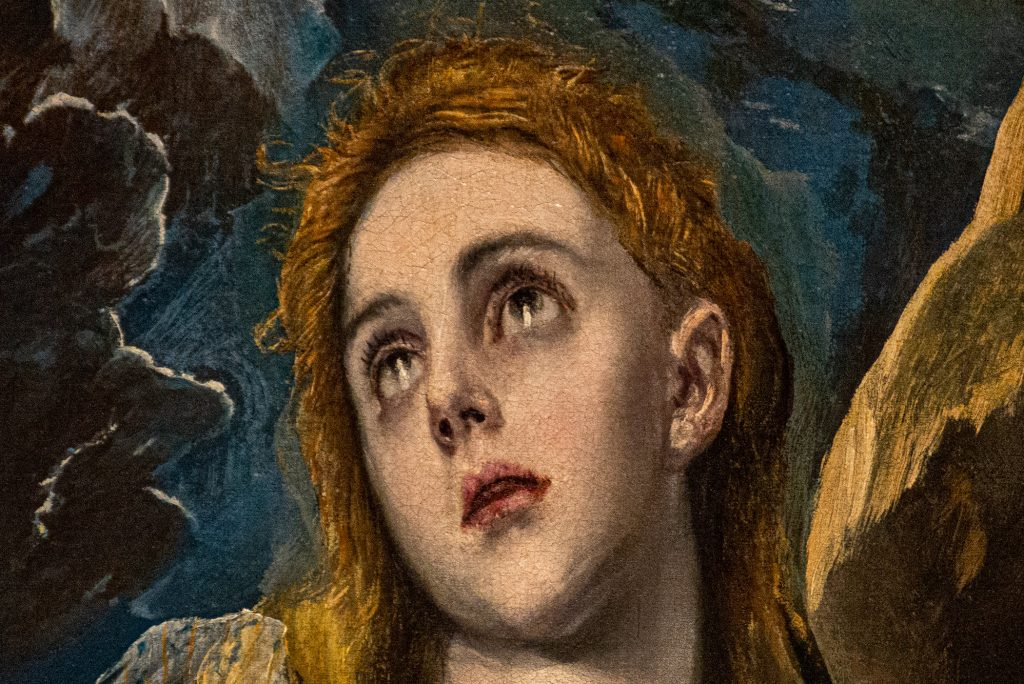 """Detail of face in """"The Penitent Magdalene"""" by El Greco"""