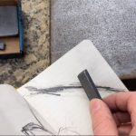 Drawing on the Picasso with pencil rubbings