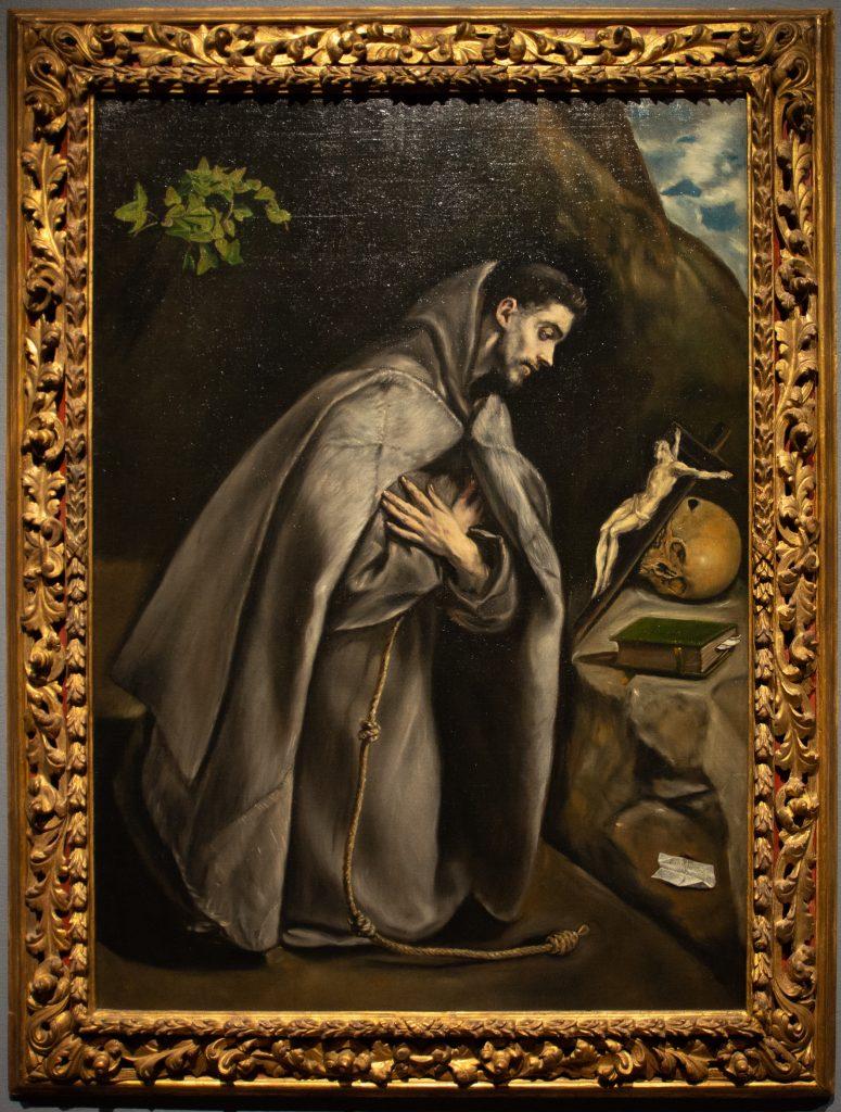 """""""Saint Francis Kneeling in Meditation"""" by El Greco"""
