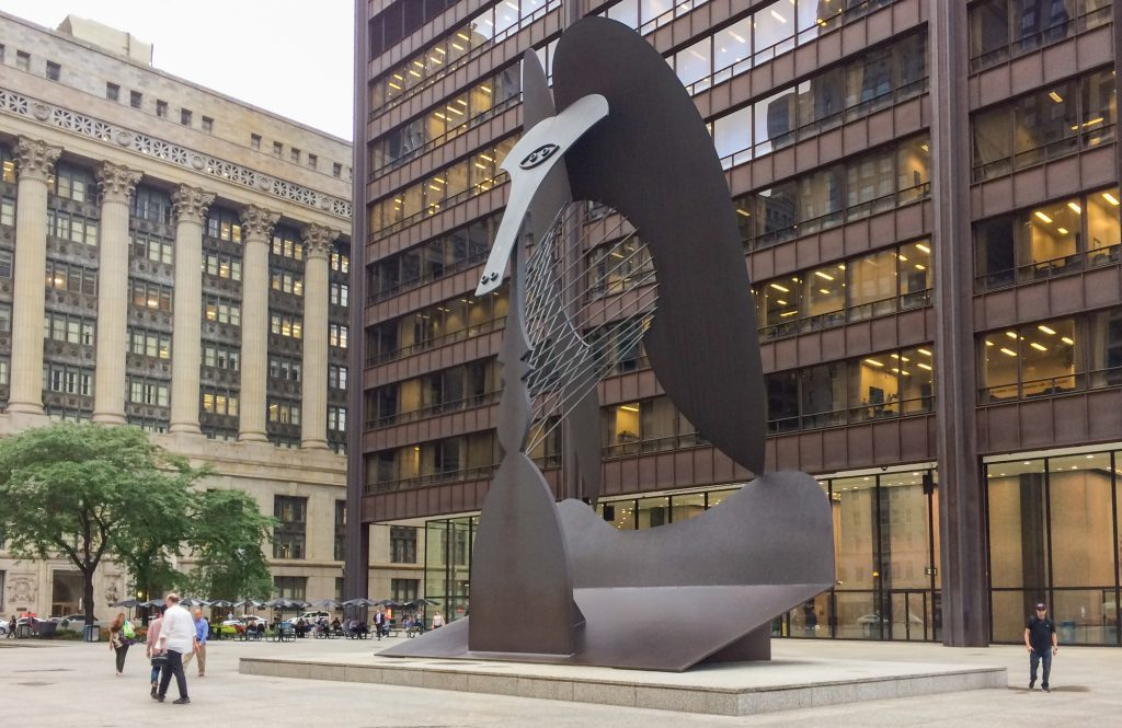 The Chicago Picasso sculpture in Daley Plaza