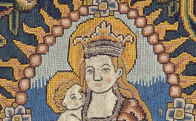 "Detail of ""Panel Depicting Madonna and Child"""