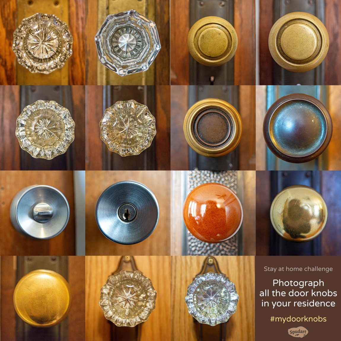 Stay at home challenge - Photograph all the door knobs in your residence 2
