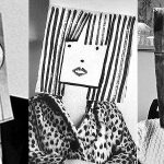 Stylish paper bag masks from the 1950s