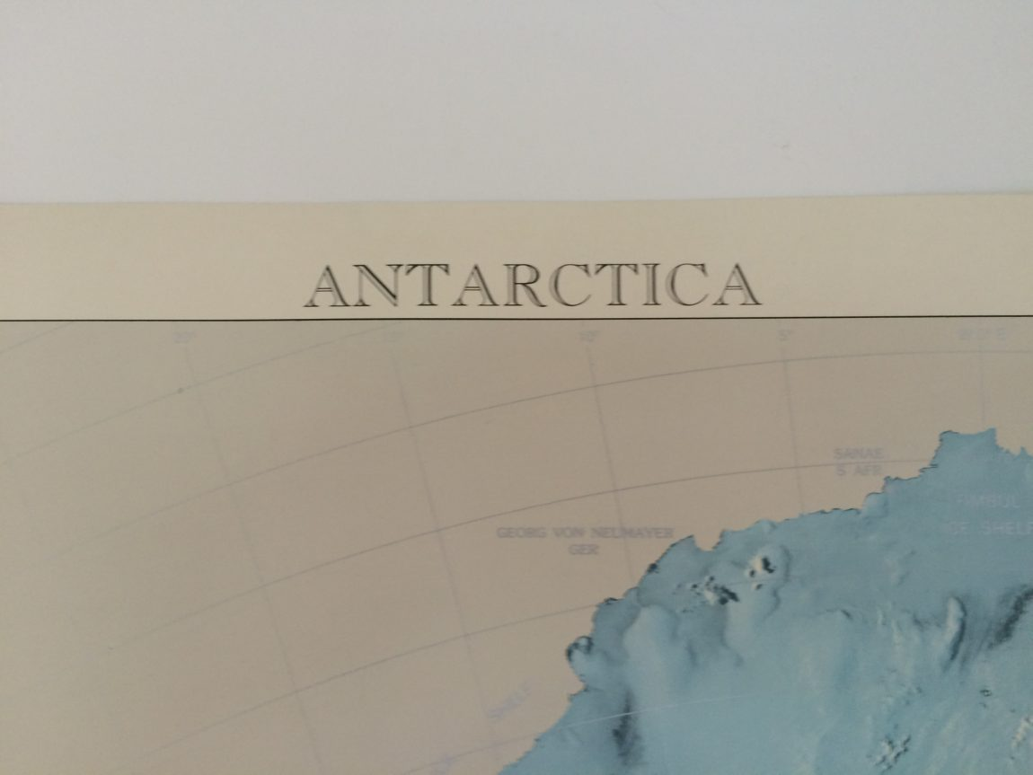 (detail from Antarctica map poster)