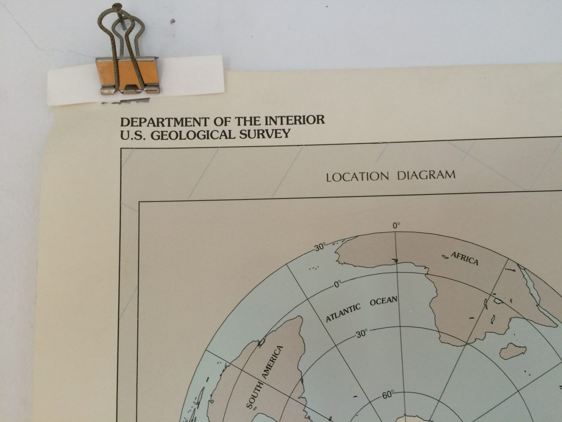Department of the Interior U.S. Geological Survey (detail from Antarctica map poster)