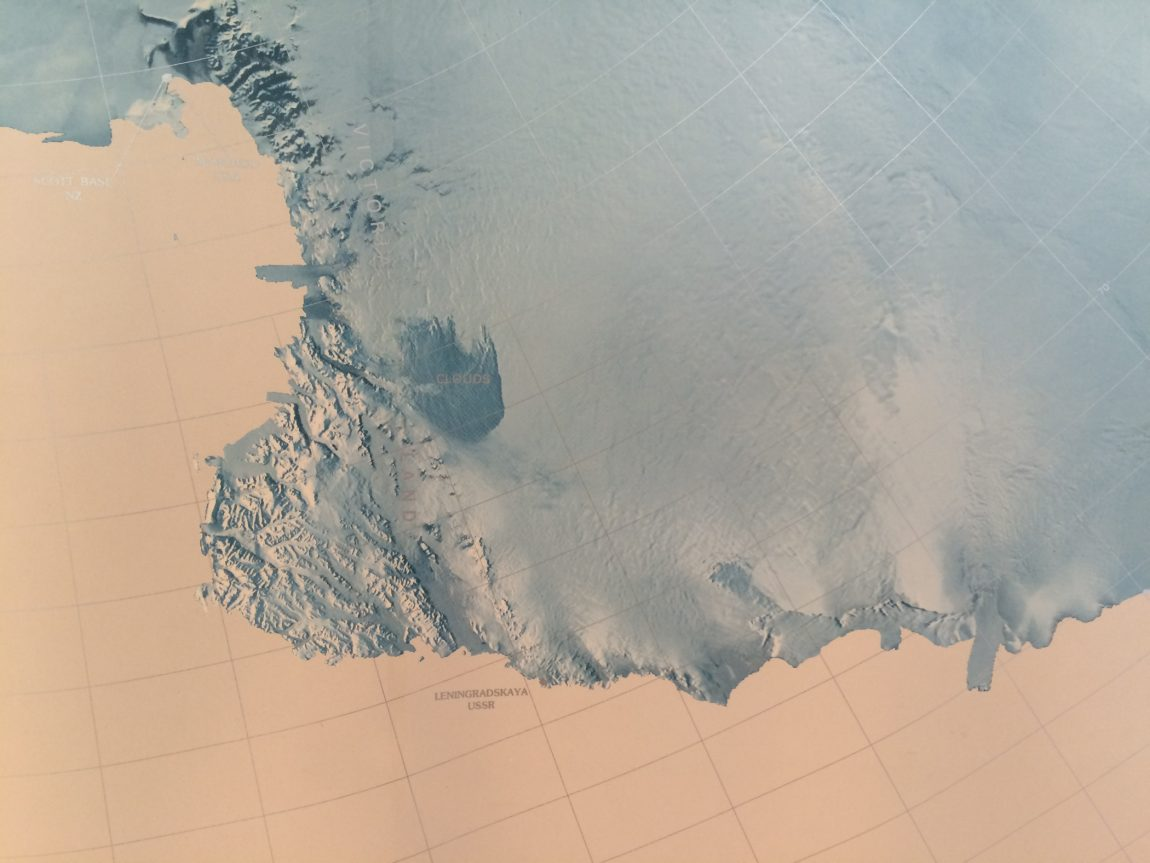 Victoria Land (detail from Antarctica map poster)