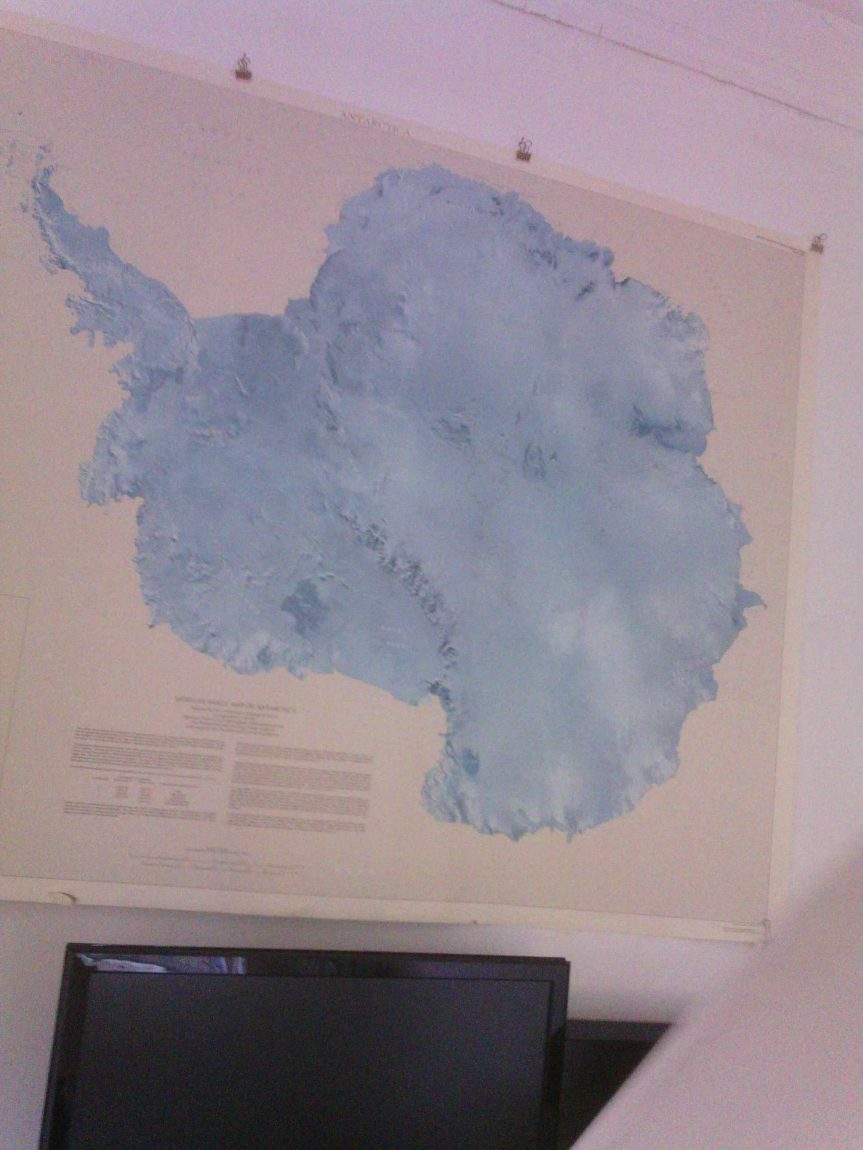 SATELLITE IMAGE MAP OF ANTARCTICA