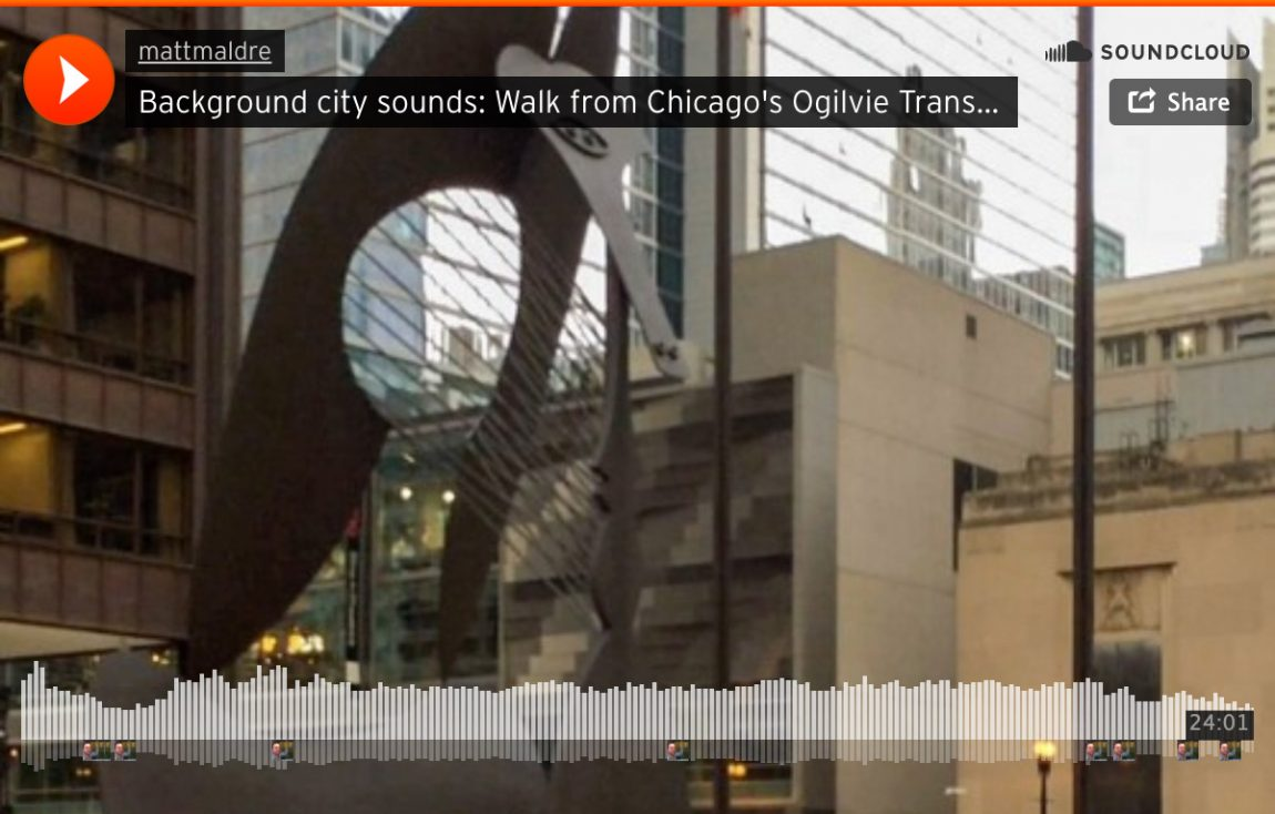 Soundcloud: background city sounds