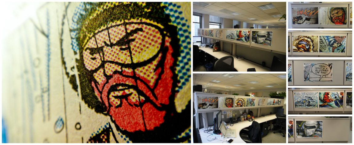 G.I. Joe snow prints at the 1400 Gallery at Tribune Tower, Chicago
