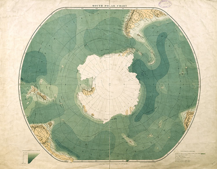 South Polar Chart from historytoday.com
