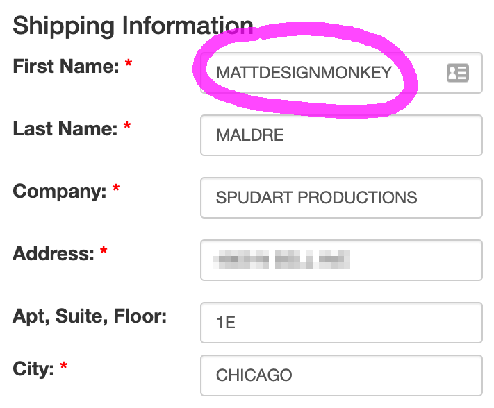 Using an altered name to track who shares your information