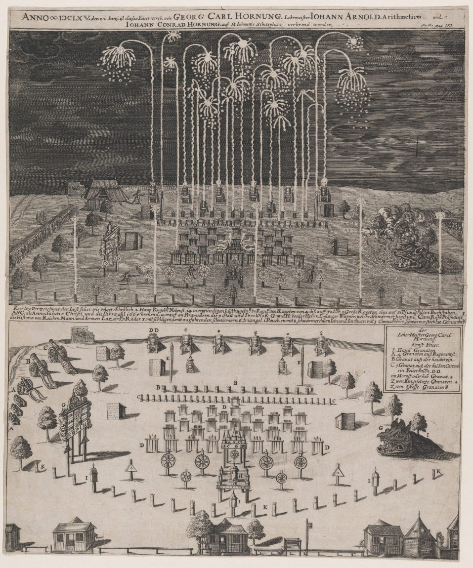 Fireworks on the Schiessplatz, Nuremberg, June 22, 1665