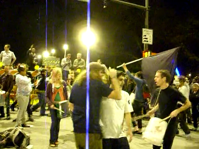 Video screengrab of people dancing at Barack Obama's victory on election night 2008