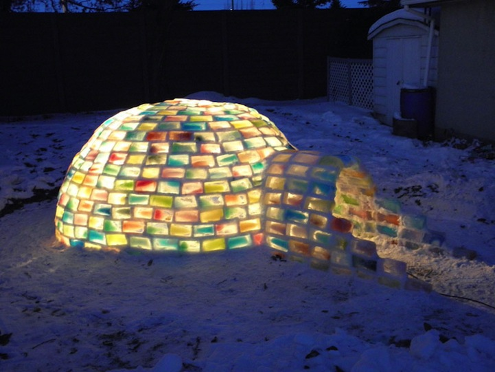 Engineering Student Constructs Magical Rainbow Igloo 2