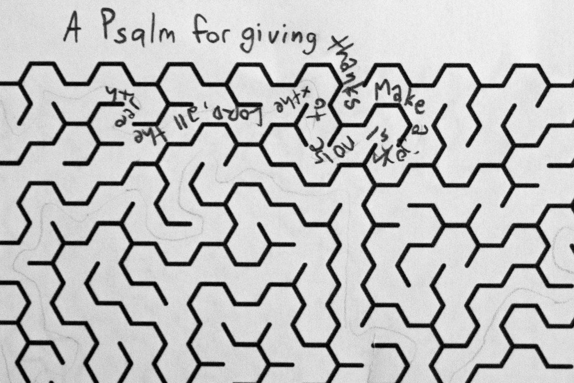 writing inside a maze