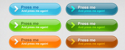 Glossy Web 2.0 buttons