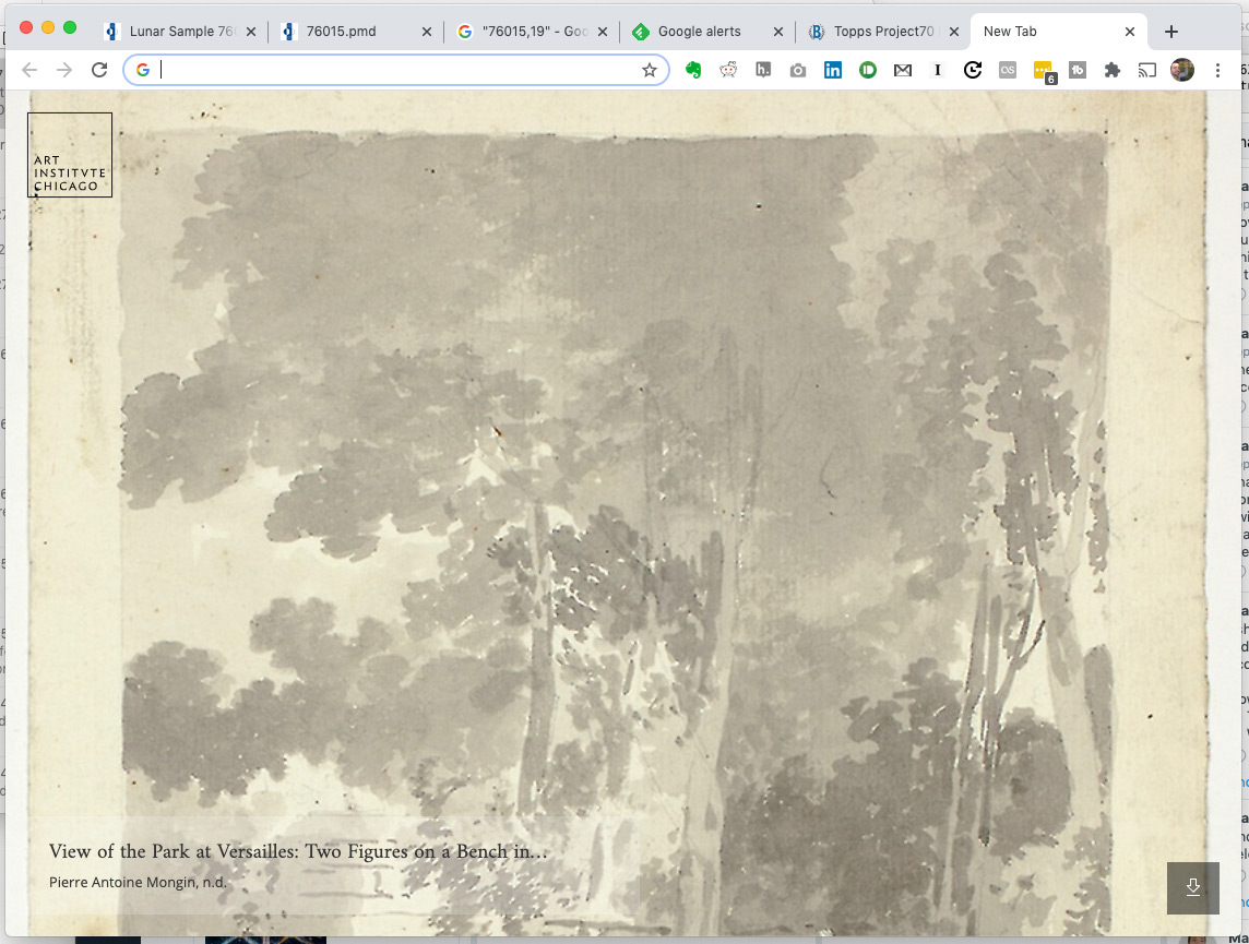 Screenshot of by Pierre Antoine Mongin artwork in Art Tab Chrome add-on