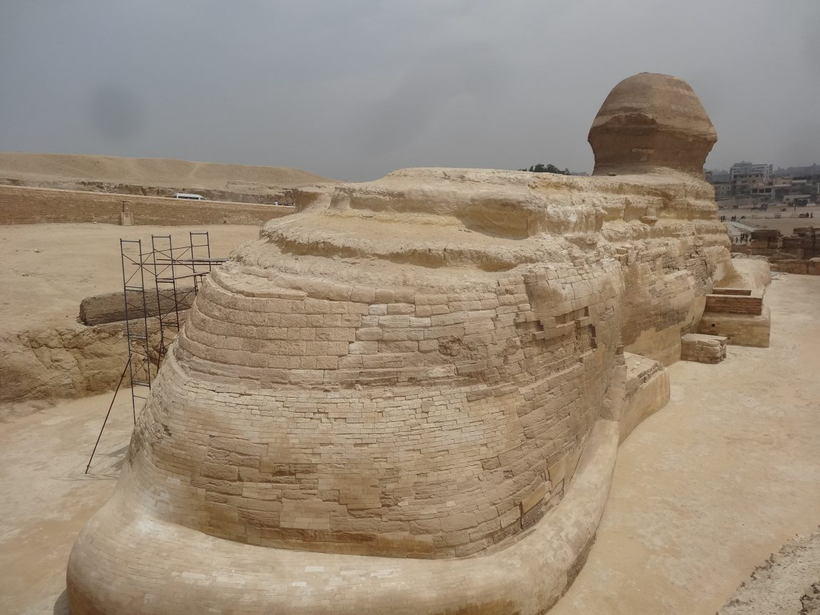 The Great Sphinx of Giza has a tail