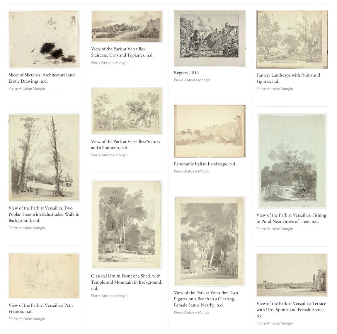 Screenshot of artwork by Pierre Antoine Mongin, on artic.edu