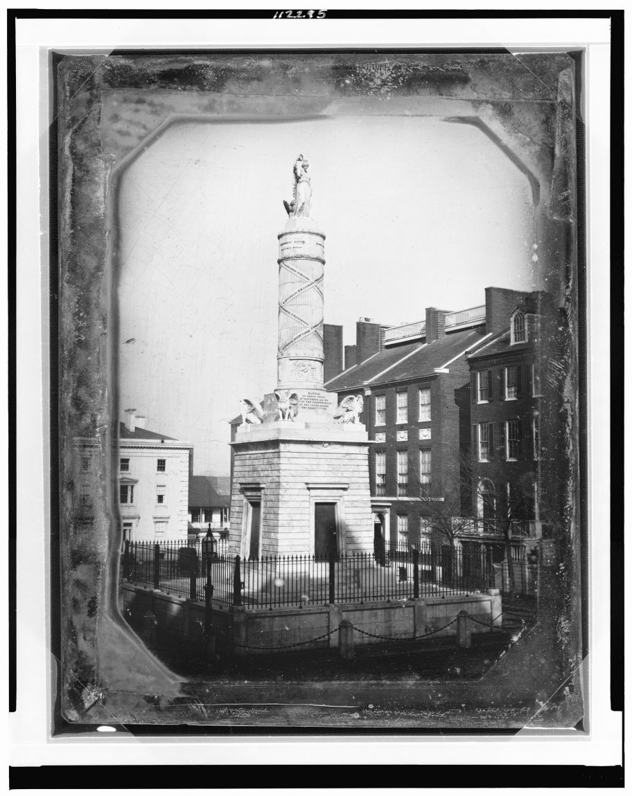 Monument commemorating the Battle of North Point, Calvert Street and Fayette Street, Baltimore, Maryland