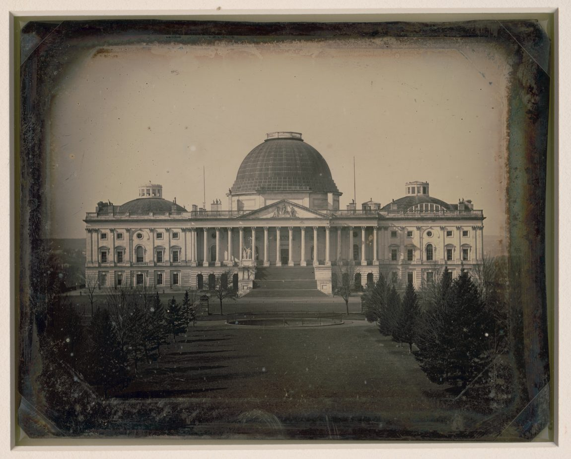 United States Capitol, Washington, D.C., east front elevation. Photograph by John Plumbe, 1846
