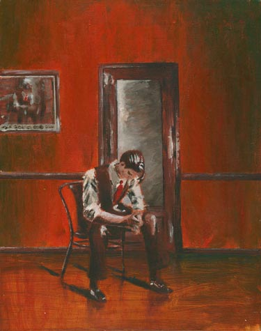 Harry Connick, Jr. painting by Matt Maldre. Acrylic on canvas, 1993.