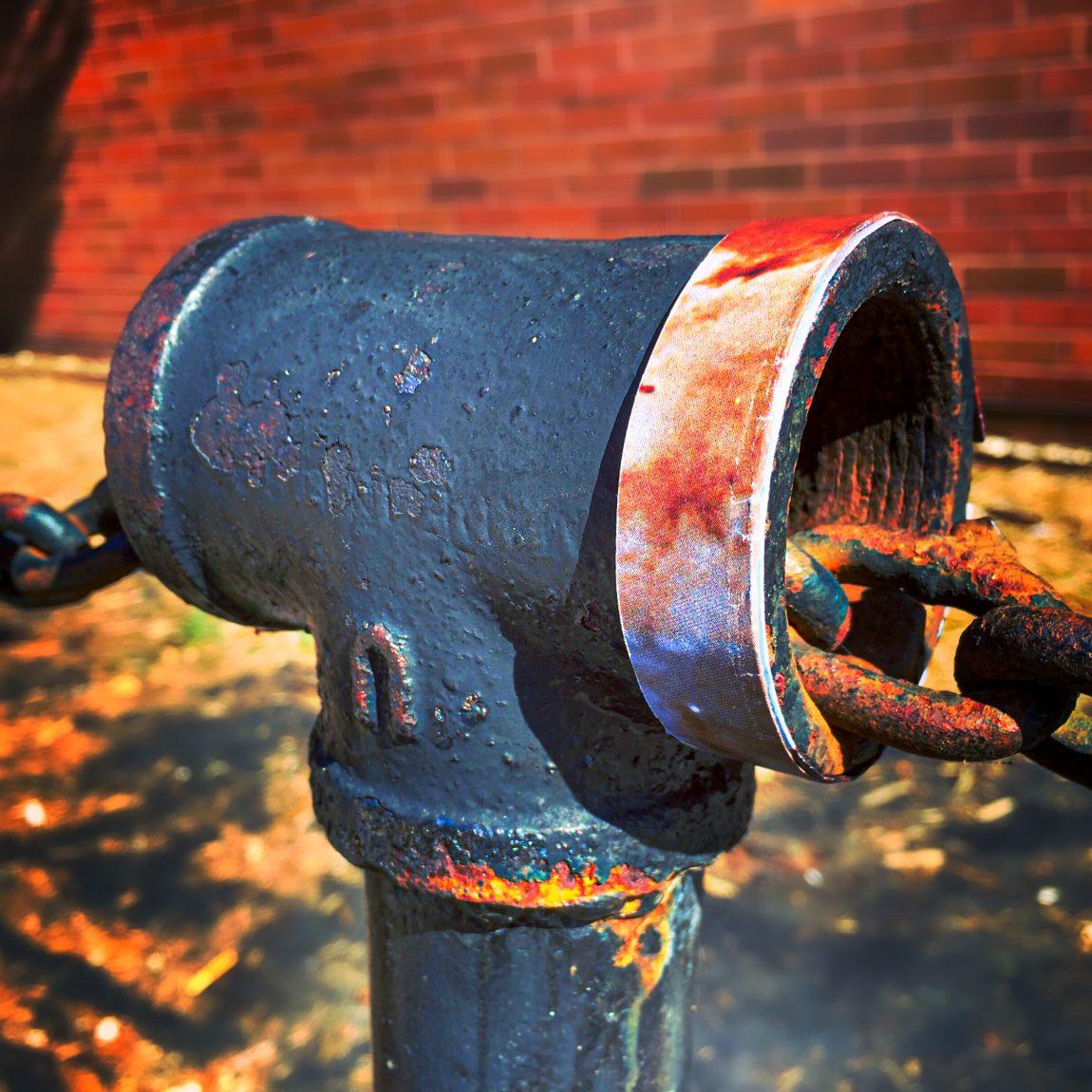 Carina Nebula wrapped around fence post at United States Posr Office