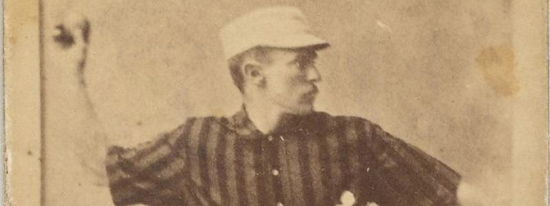 John Montgomery Ward throwing a baseball