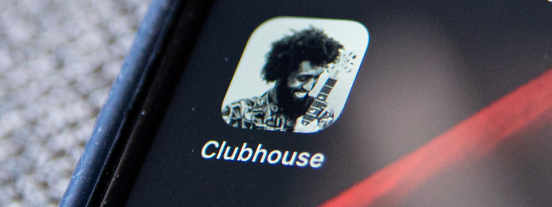 Clubhouse icon on iPhone