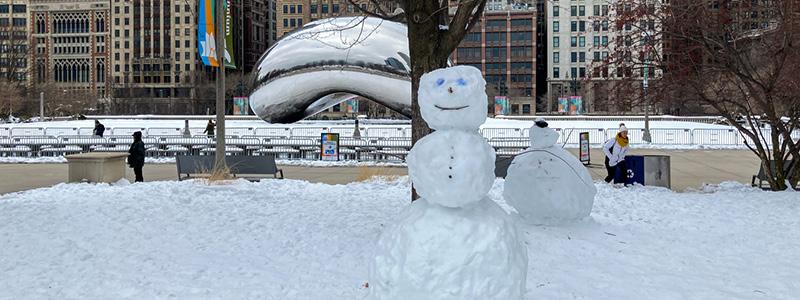 Snowman by Chicago Bean