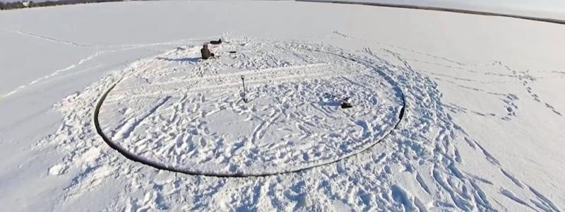 Ice carousel in Estonia