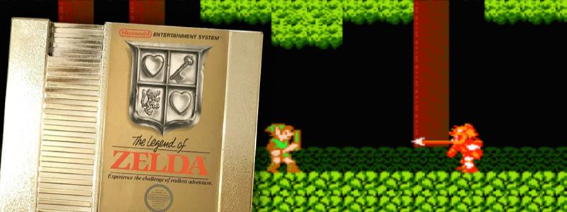 The Legend of Zelda gold cart on top of game screenshot