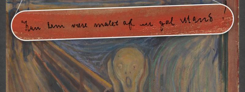 Madman handwriting on The Scream
