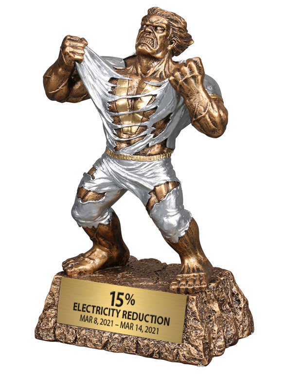 Trophy for electricity reduction