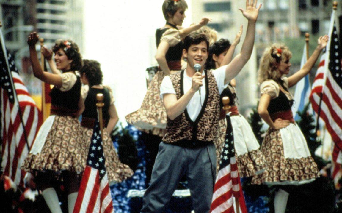 Ferris Bueller wearing vest in parade
