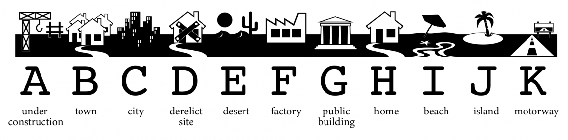Letters ABCDEFGHIJK become a town in Wingdings font