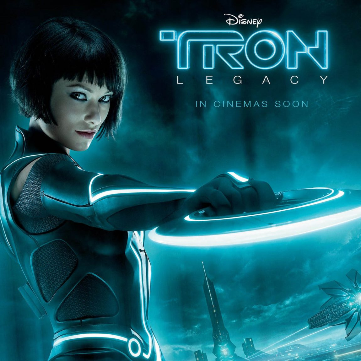 TRON Legacy: Quorra poster with intense cyan blue colors
