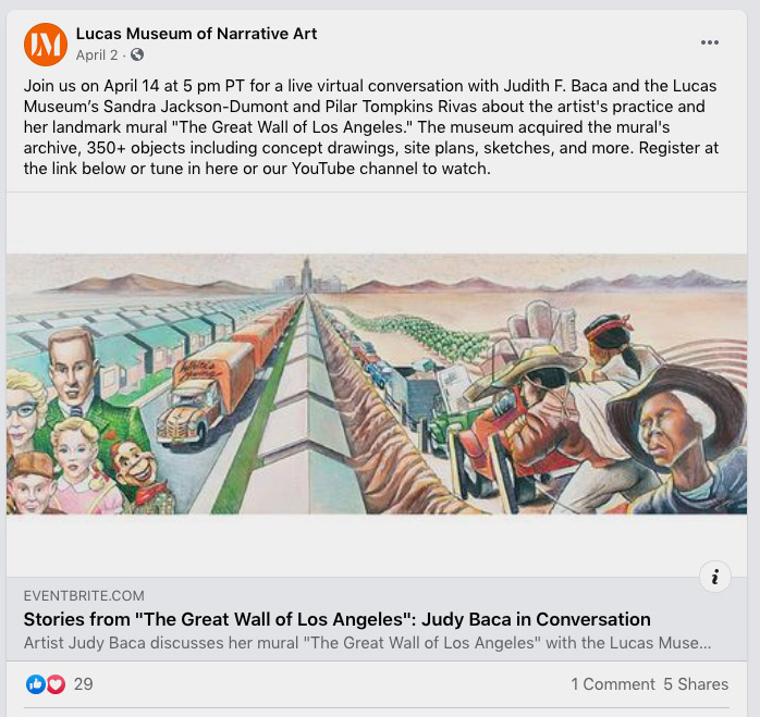 """Take a closer look at some of the items in the archive of Judith F. Baca's """"The Great Wall of Los Angeles,"""" which is now part of the Lucas Museum's collection, and read the stories behind some of the events portrayed in the artist's landmark mural."""